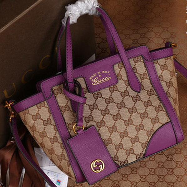 Gucci Swing mini GG Canvas Top Handle Bag 368827 Purple