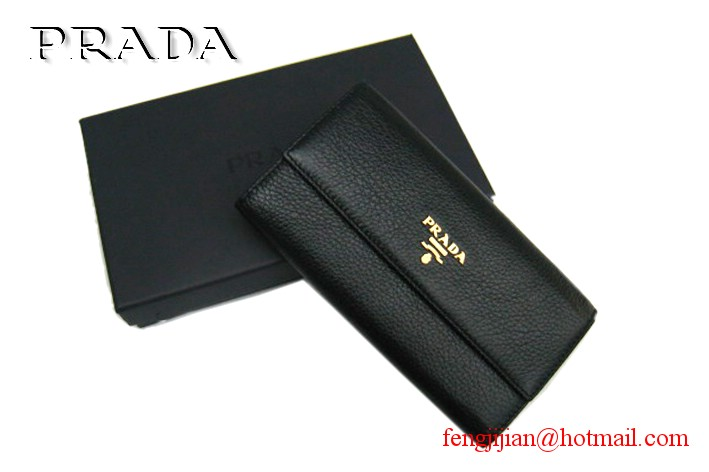 Knockoff Prada wallet 1M0206 black