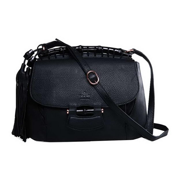 Gucci Nouveau Leather Shoulder Bag 347101 Black