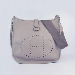 Hermes Cowhide Evelyne Messenger Bag 6309 Grey