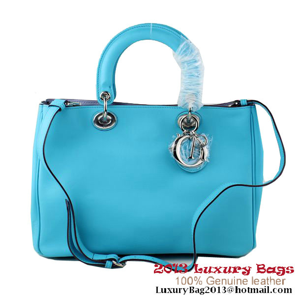 Dior Small Diorissimo Bag Original Calfskin Blue