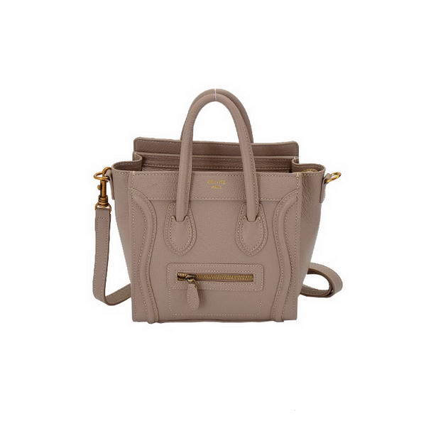 Celine Luggage Nano Tote Bag Calfskin Leather Khaki