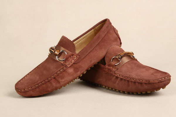 Gucci Suede Leather Casual Shoes GG0396 Brown
