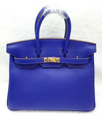 Hermes Birkin 25CM Tote Bag Original Leather H25T Royal