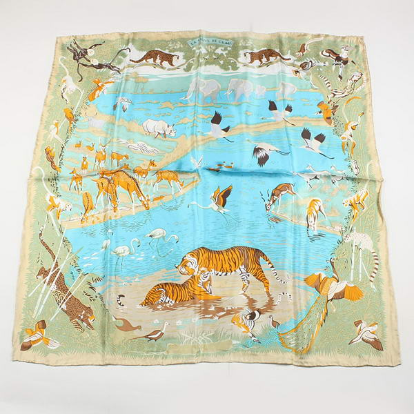 Hermes Scarves Silk Broadcloth WJH039 Apricot
