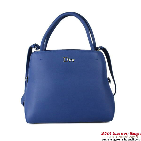 Dior Fall Winter 2012 Calfskin Top Handle Bag DR9506 RoyalBlue