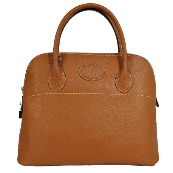 Hermes Bolide 37CM Tote Bags Clemence H1037 Camel