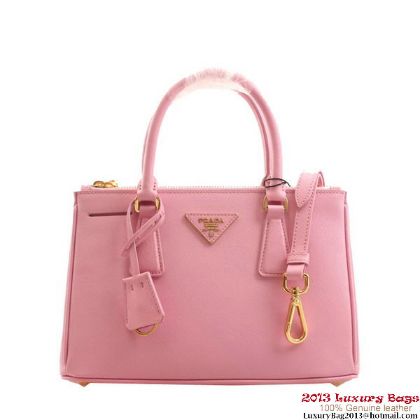 Prada BN2316 Pink Saffiano Calfskin Leather Small Bag