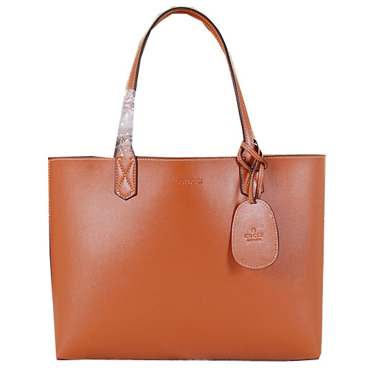 Gucci Reversible GG Leather Tote Bag 368568 Wheat