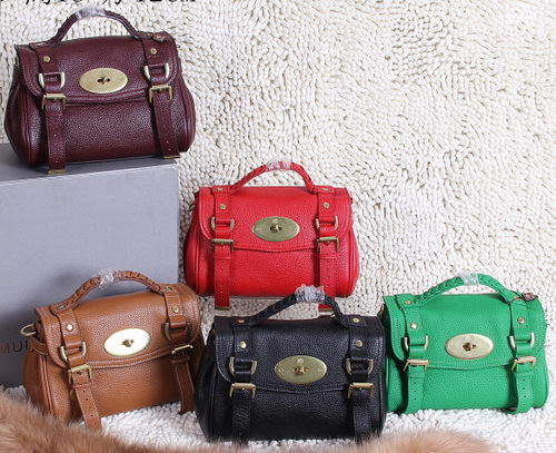 Mulberry Small Alexa Bayswater Bags Litchi Leather 7539S