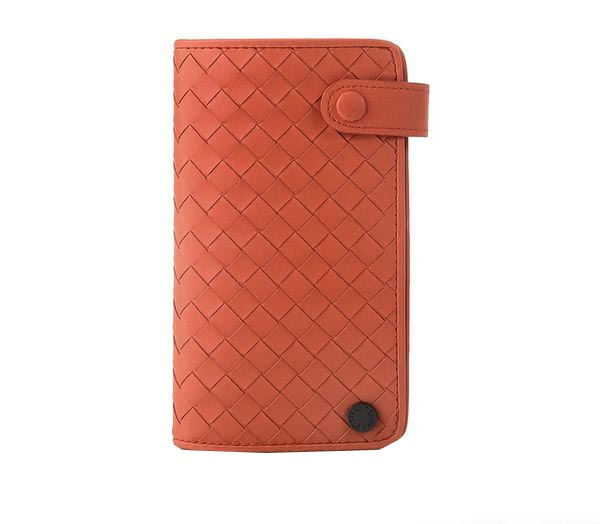 Bottega Veneta Intrecciato Nappa Card Case 6805 Orange