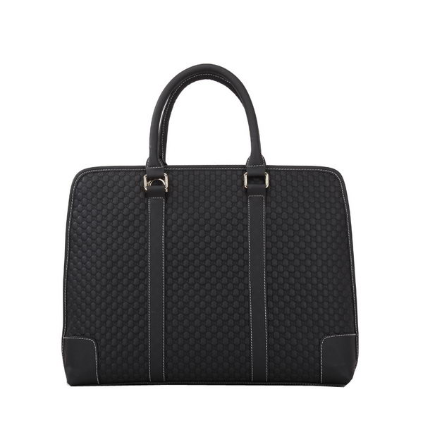Gucci Guccissima Leather Business Briefcase G021 Black