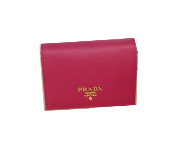 Prada Saffiano Leather Bi-Fold Wallet 1M0204 Rose