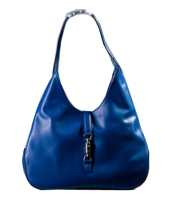 Gucci 362968 Jackie Soft Leather Hobo Bag Blue