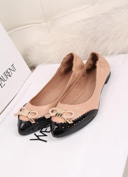 BurBerry Leather Flat BU094YF Pink