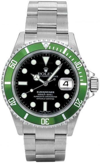 Rolex Submariner Date Series Mens Automatic Wristwatch 16610LV