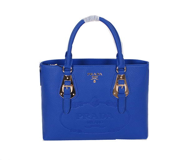 Prada Original Calfskin Leather Tote Bag BN1902 Royal