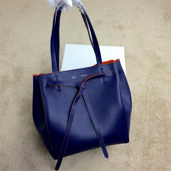 Celine Cabas Phantom Bags Original Leather C2208 Royal