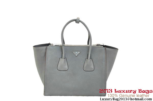 Prada Original Vegetable Leather Tote Bag BN2619 Gray