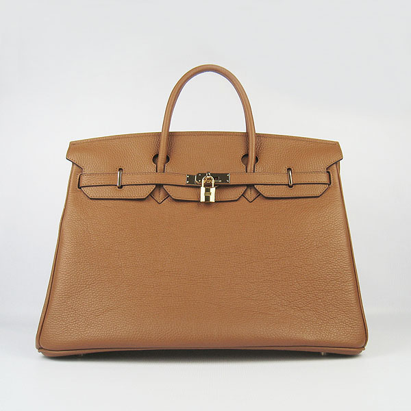 Hermes Birkin 40CM Togo Handbag Light Coffee 6099 Gold