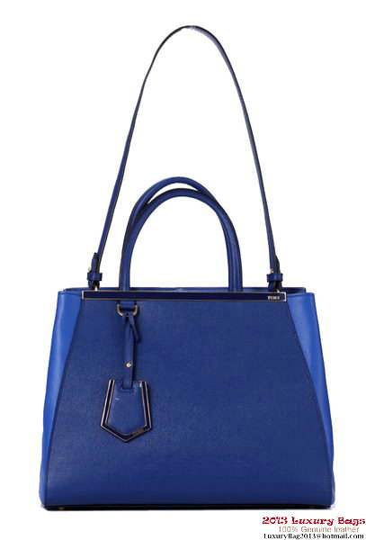 Fendi Fall Winter 2012 2Jours Original Leather Tote Bag F001 Blue