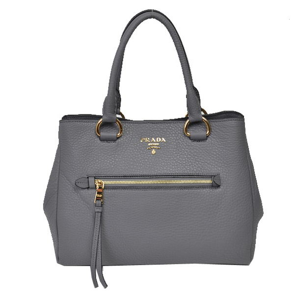 Prada Grainy Leather Tote Bags BN2793 Grey