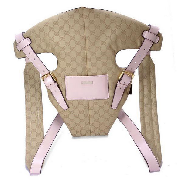 Gucci Baby Carrier 28550 Pink Leather Straps