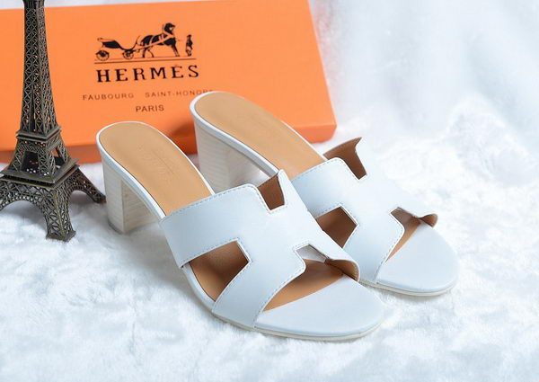 Hermes Sandals Leather HO0425 White