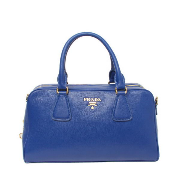 Prada Original Grainy Leather Boston Bag BN0867 Blue