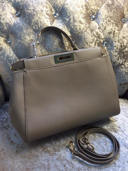 Fendi Peekaboo Bag Calfskin Leather 30340 Grey