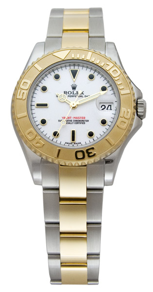 Rolex Yachtmaster Series Elegant Unisex Automatic 18kt Yellow Gold Unidirectional Rotating Wristwatch 168623-WSO