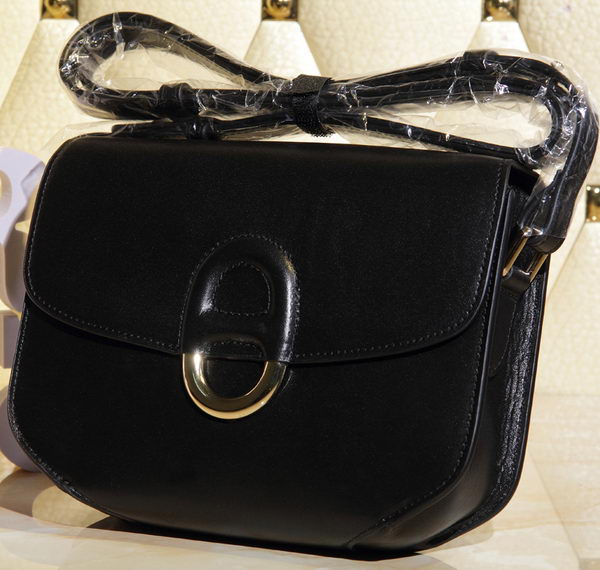 Hermes Cherche Midi Bag Calfskin Leather H1518 Black