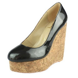 Christian Louboutin Cork-Wedge CL9803 Black