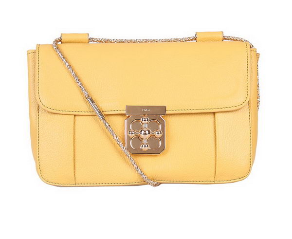 Chloe Medium Elsie Shoulder Bag 181625 Yellow