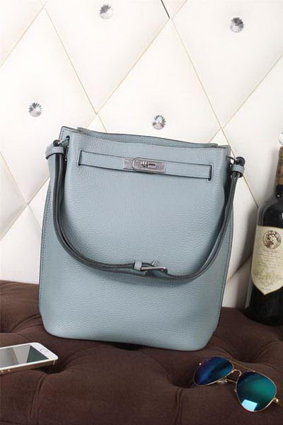 Hermes So Kelly Hobo Bag Original Leather SkyBlue
