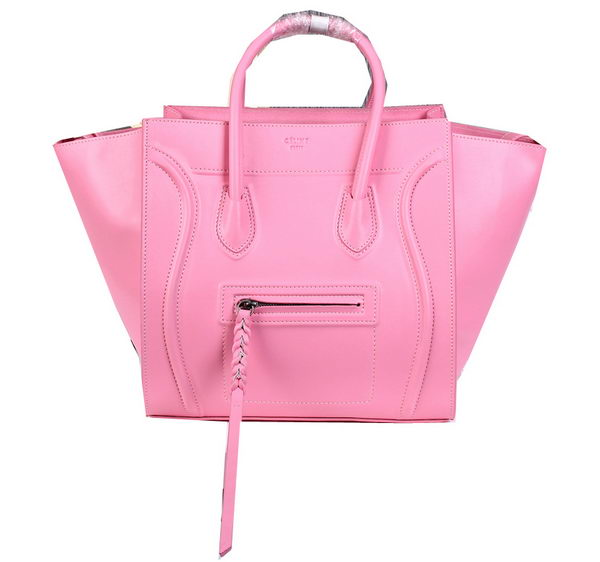 Celine Luggage Phantom Shopper Bags Ferrari Leather CL3341 Pink