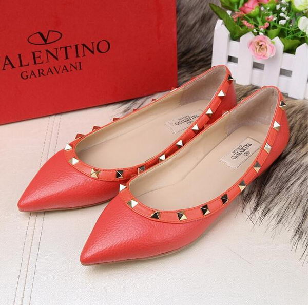 Valentino Sheepskin Leather Rivet Flat VT213YZM Orange
