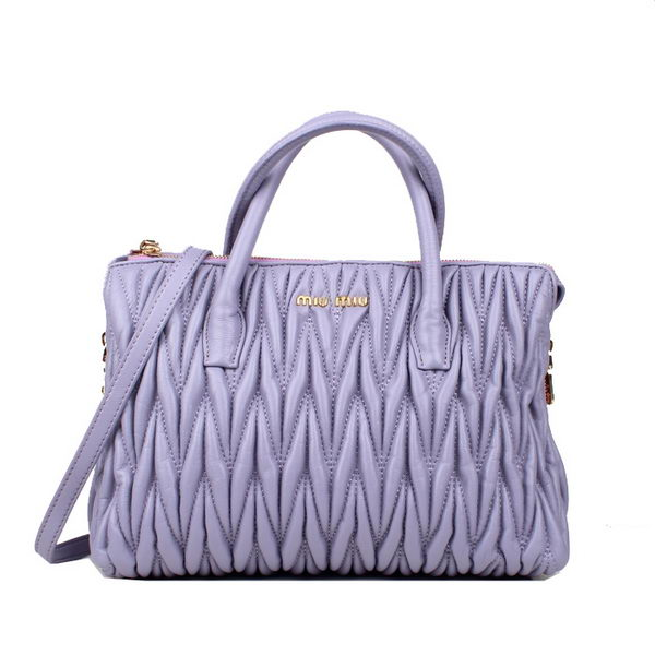 miu miu Matelasse Nappa Leather Tote Bag 8018 Light Purple