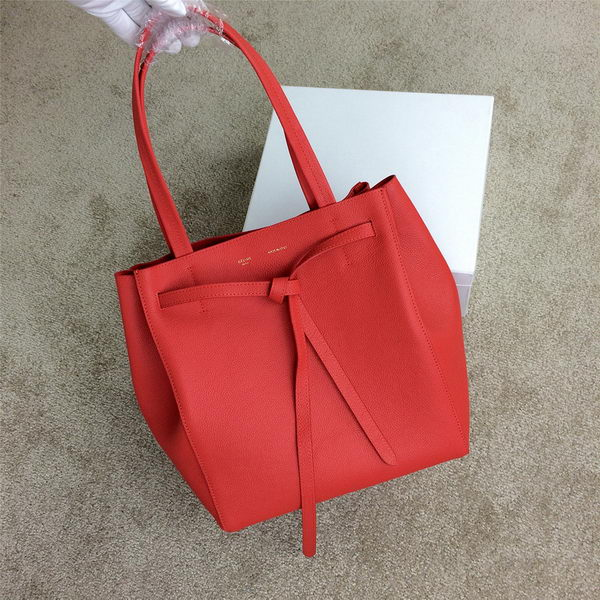 Celine Cabas Phantom Bags Grainy Leather C2208 Red