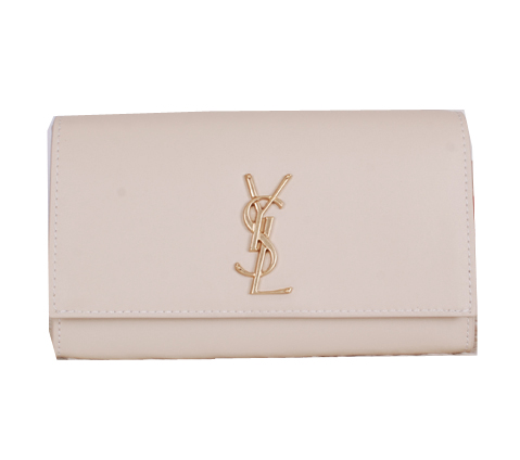 Yves Saint Laurent Classic Monogramme Clutch Y7131 OffWhite