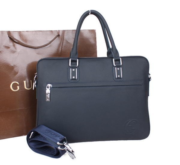 Gucci Calf Leather Business Briefcase M51081 RoyalBlue