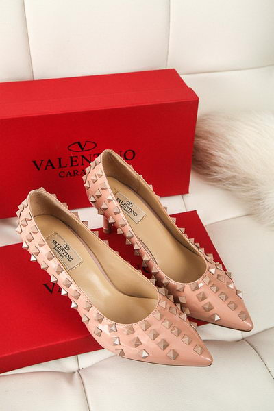 Valentino Patent Leather Rivet 65mm Pump VT288YZM Pink