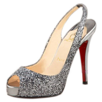 Christian Louboutin N Prive Fabric Slingbacks Multi-Color