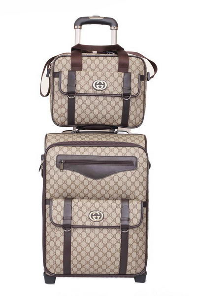 Gucci Luggage Travel Carry-on Luggage 189775 Brown