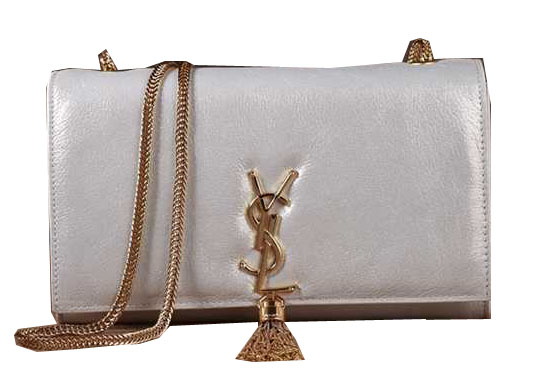 Yves Saint Laurent Small Monogramme Cross-body Shoulder Bag 5475 Silver
