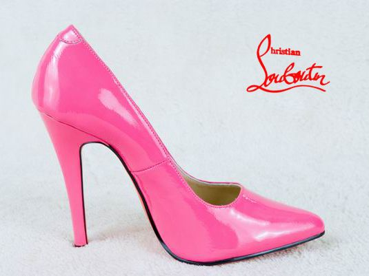 Christian Louboutin Simple Pumps Patent Leather Pink