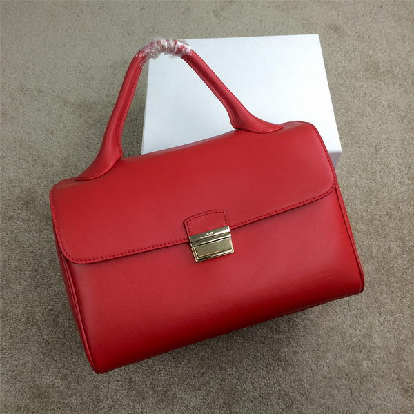 Celine Top Handle Bag Original Leather C20135L Red