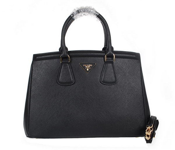 PRADA Saffiano Leather Tote Bag BN2308 Black
