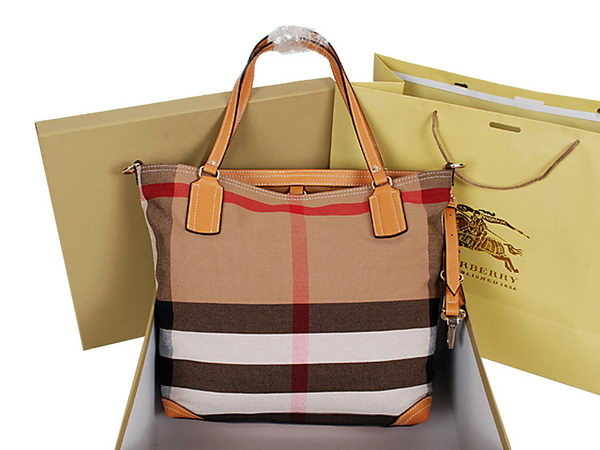 BurBerry Jute and Cotton Canvas Tote Bag 9181 Camel