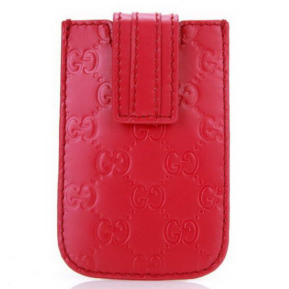 Gucci Embossed Leather iphone Case 210188 Rosso